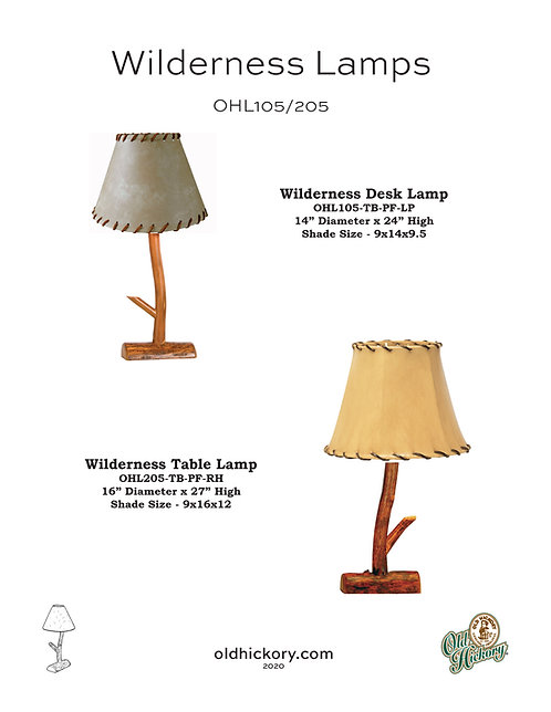 Wilderness Lamp - OHL105/OHL205