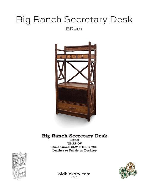 Big Ranch Secretary Desk - BR901
