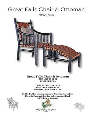 Great Falls Chair & Ottoman - GF101/GF109