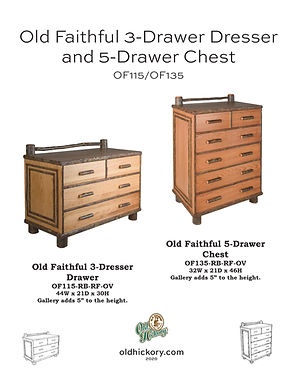 Old Faithful 3-Drawer Dresser & 5-Drawer Chest - OF115/OF135