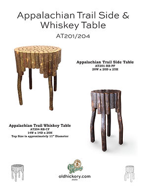 Appalachian Trail End Table & Whiskey Table - AT201/AT204