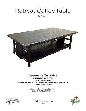 Retreat Coffee Table - MR201