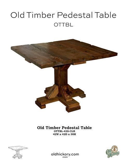 Old Timber Pedestal Table - OTTBL