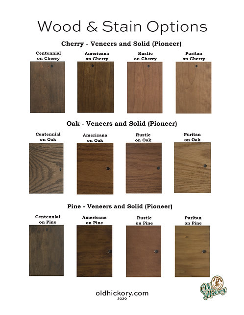 Wood & Stain Options