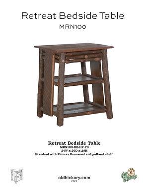 Retreat Bedside Table - MRN100