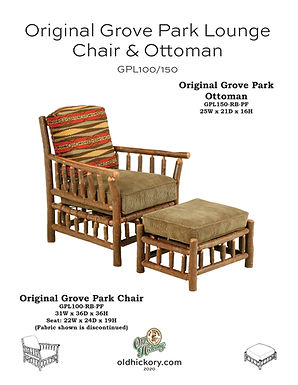 Grove Park Lounge Chair & Ottoman - GPL100/GPL150
