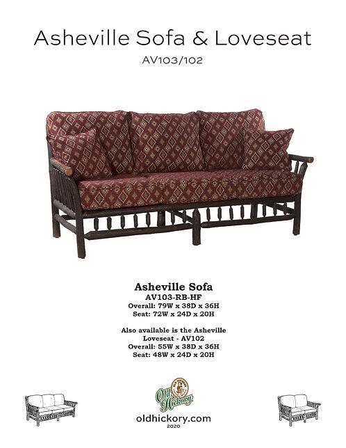 Asheville Sofa & Loveseat - AV103/AV102