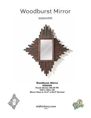Woodburst Mirror - WBMIRR