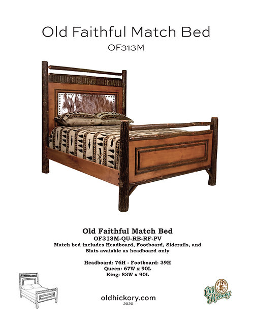 Old Faithful Panel Bed - OF313M