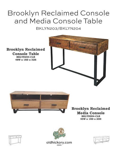 Brooklyn Reclaimed Console & TV Console - BKLYN203/BKLYN204