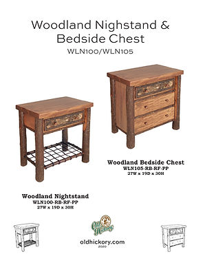 Woodland Nightstand & Bedside Chest - WLN100/WLN105