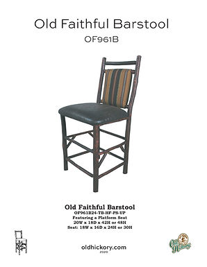 Old Faithful Barstool - OF961B