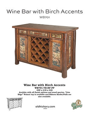 Wine Bar with Birch Accents - WB701