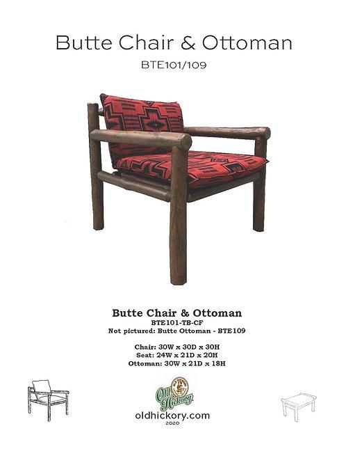 Butte Chair & Ottoman - BTE101/BTE109