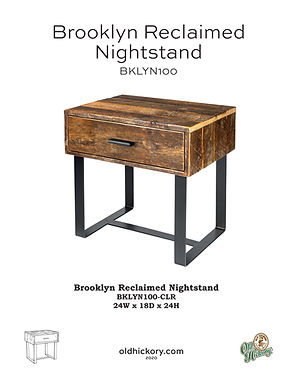 Brooklyn Reclaimed Nightstand - BKLYN100
