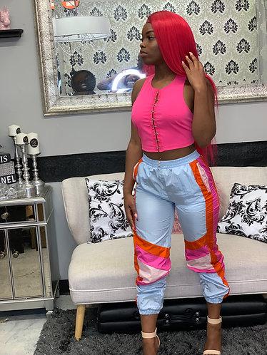 color block pants