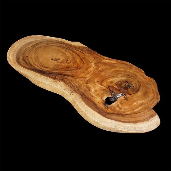 "Suar wood organic slab 57""x 23""x 4"""