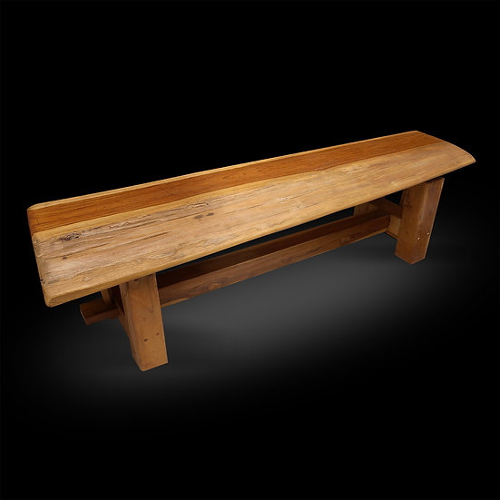 Rustic bench 61""