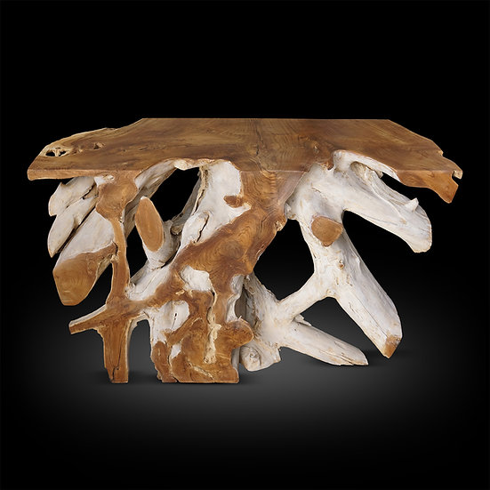 "Teak Root White Washed 48""x 16""x 32"""
