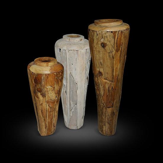Teakwood Vases 5',4',3'