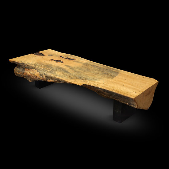 Tamarind wood half log bench/table