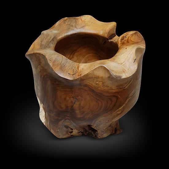 teakwood bowl planter pot