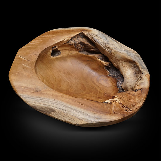 "Small Teakwood bowl D12"""