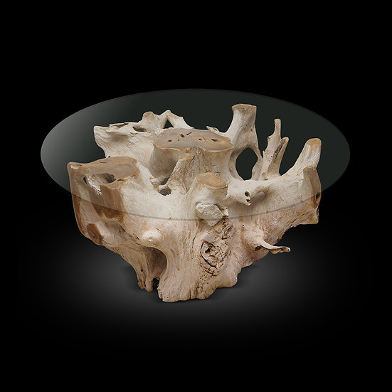 White Washed Teak Root Base