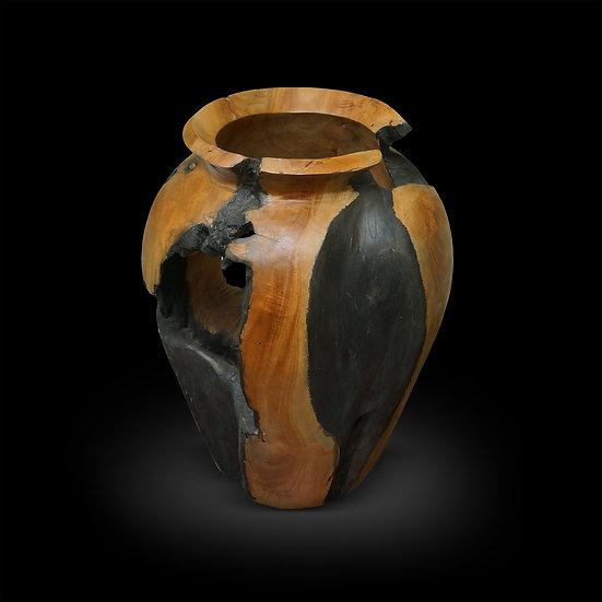 """Teakwood Vase 16""""h"""