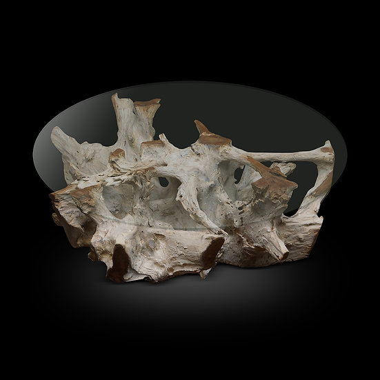"""White Washed Teak Root D42""""x18""""h"""