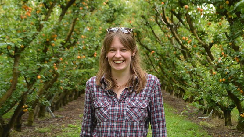 Ellen Watt, winner of the 2019 Central Otago Young Fruitgrower of the Year.