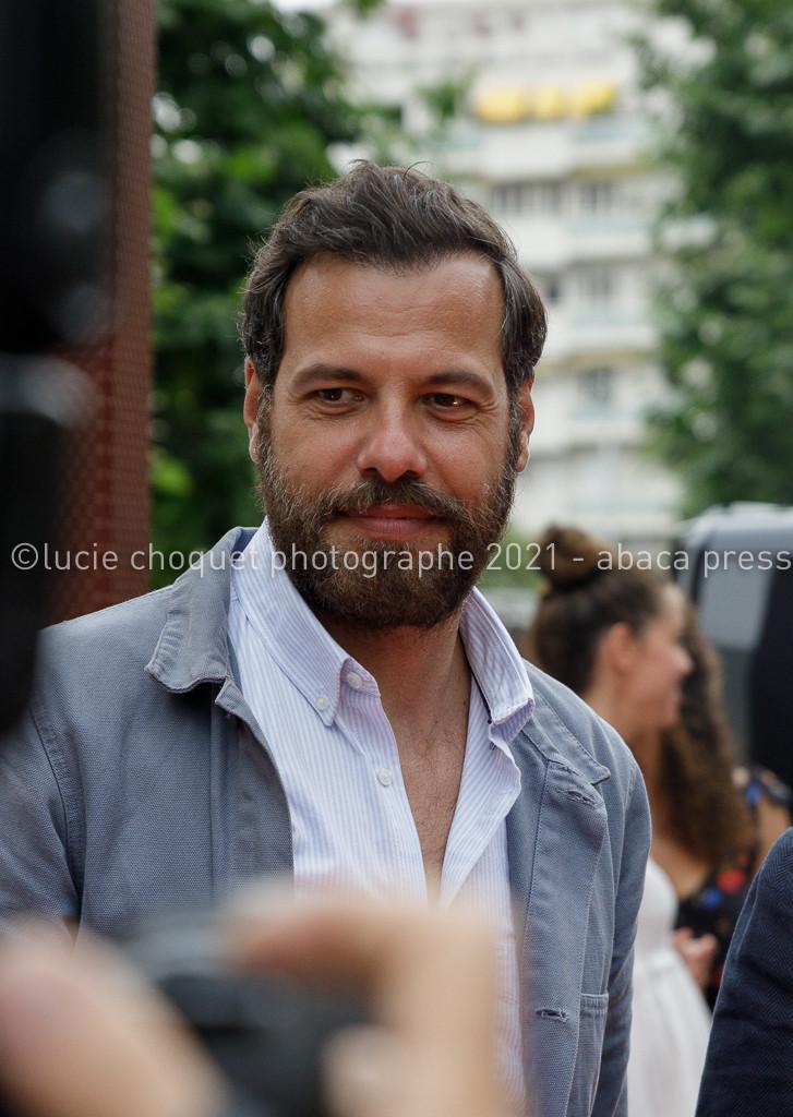 Laurent Lafitte sur le tapis rouge de l'avant-première de son film L'origine du monde, à Nice