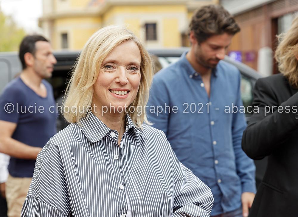 Léa Drucker sur le tapis rouge du festival Ciné Roman de Nice