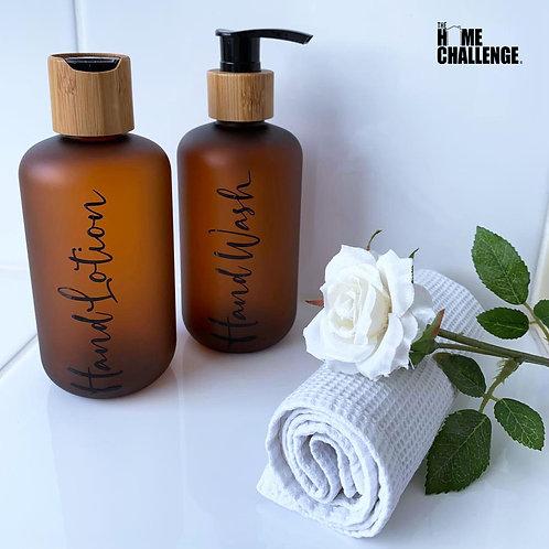 Luxury hand care bottles - Set of 2