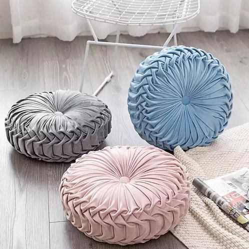 Large Luxury round pleated cushion