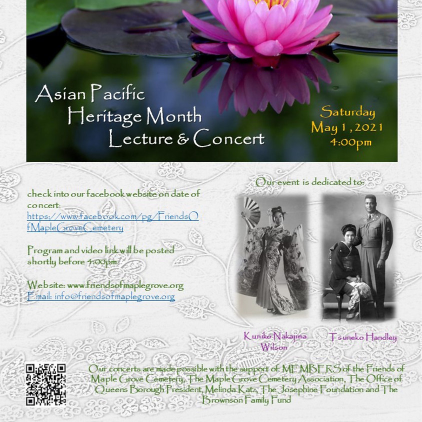 Asian Pacific Heritage Month Lecture & Concert