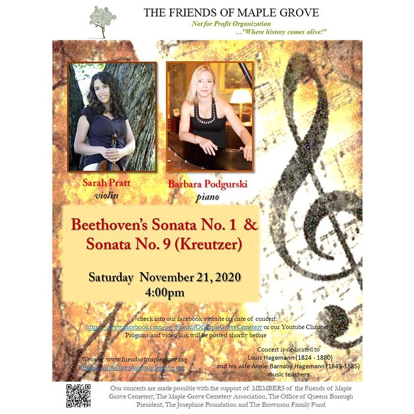 Beethoven's Sonata No.1 & Sonata No.9 (Kreutzer)