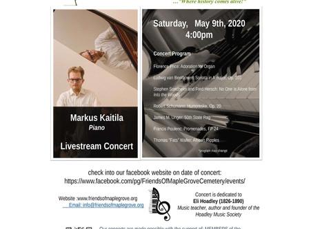 Our 1st Live Stream Concert Featuring Pianist Markus Kaitila