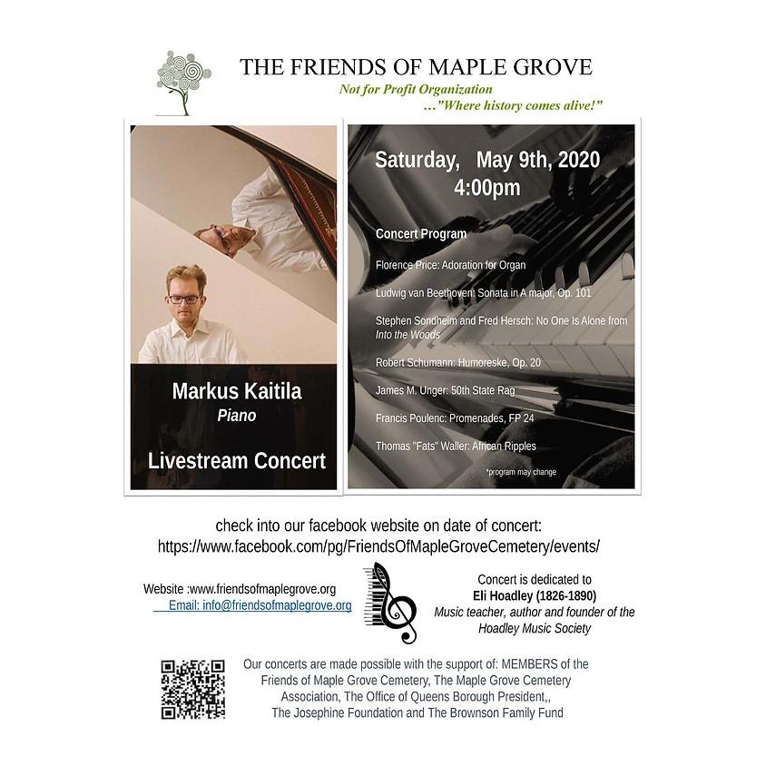 Markus Kaitila Piano Livestream Concert