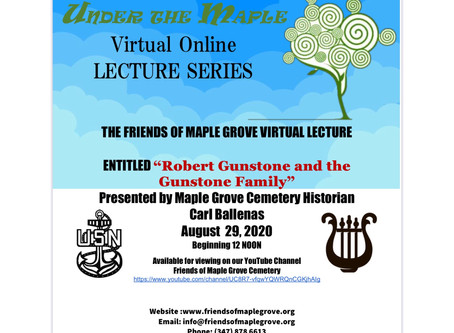 """Under The Maple Online Lecture: """"Robert Gunstone and the Gunstone Family"""""""