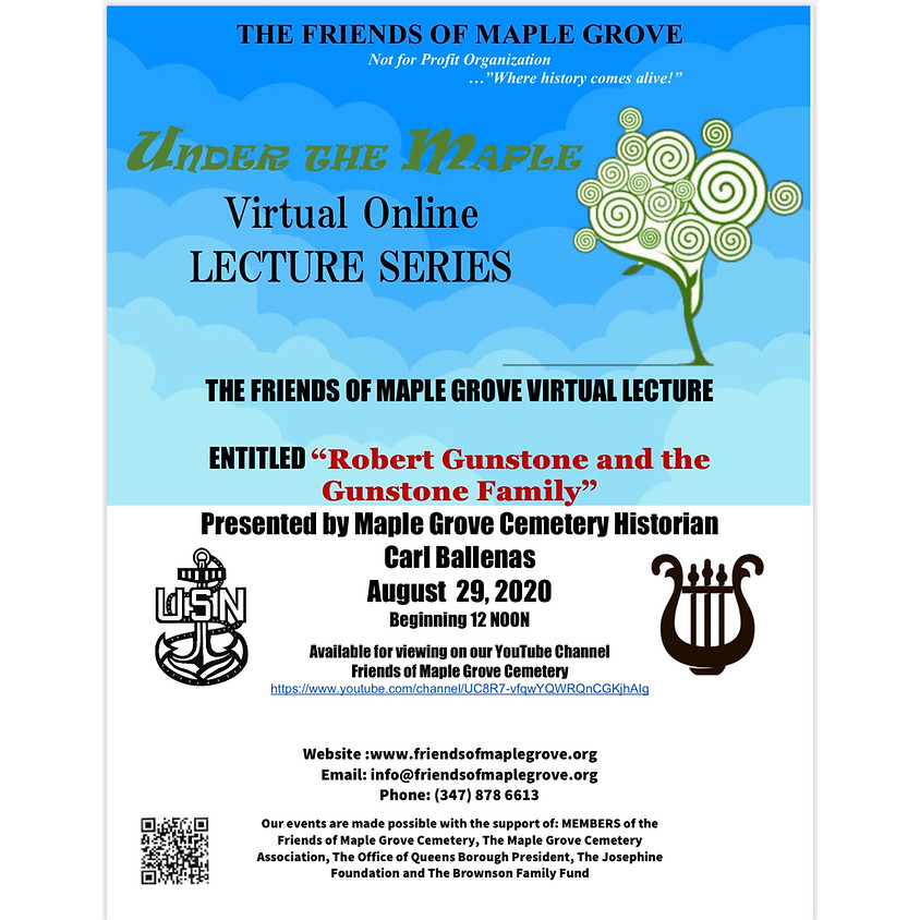 """""""Robert Gunstone and The Gunstone Family"""" Under The Maple Lecture"""