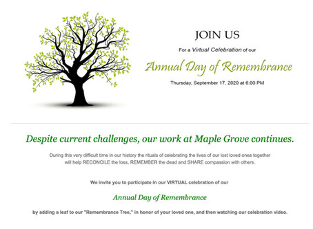 Our Annual Day of Remembrance 2020