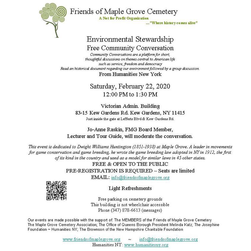 Conversation on Environmental Stewardship