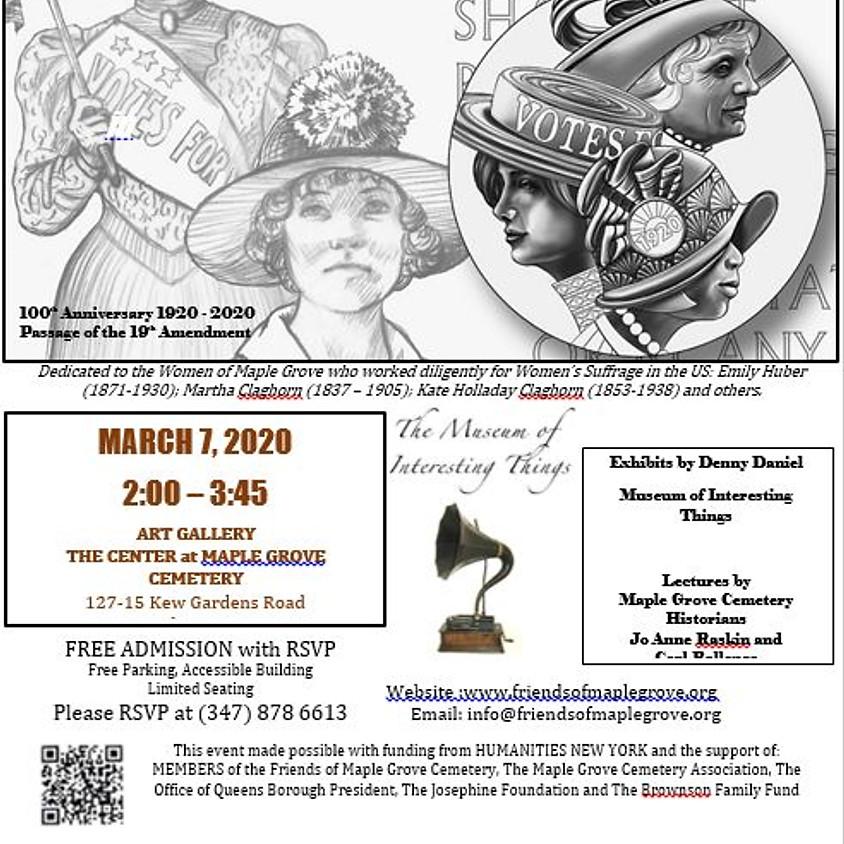 Women's Suffrage Exhibit & Lecture