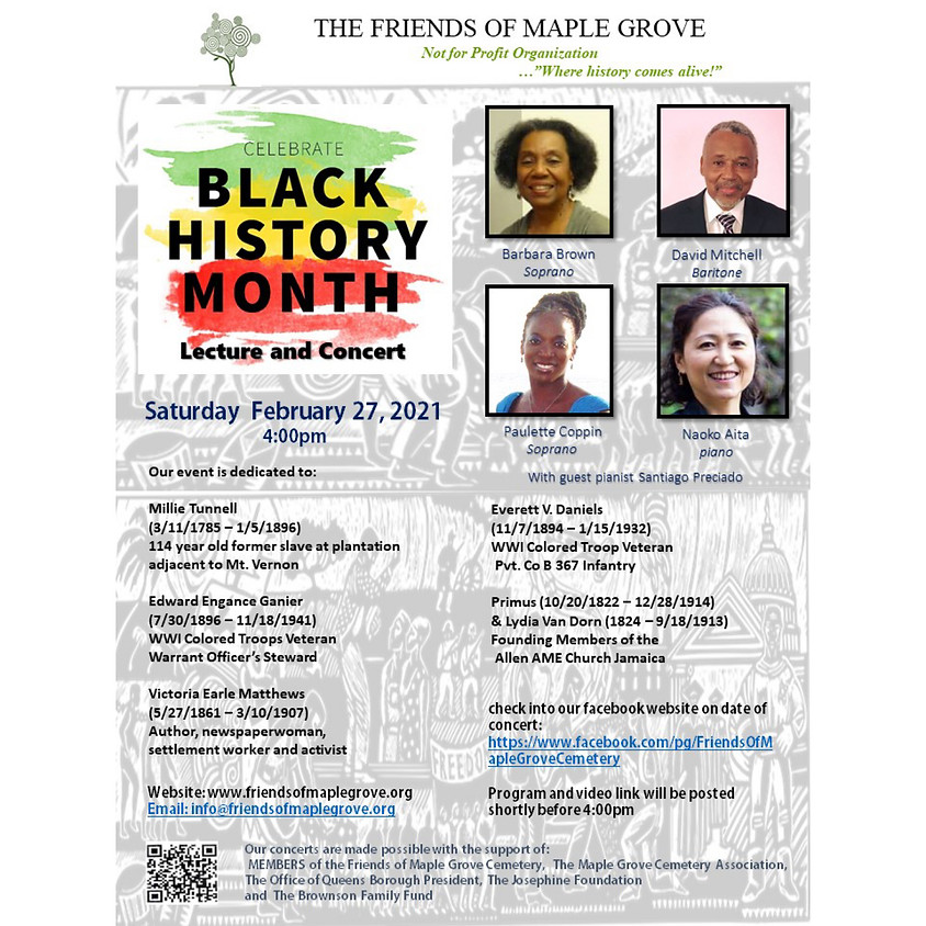 Black History Month Lecture & Concert