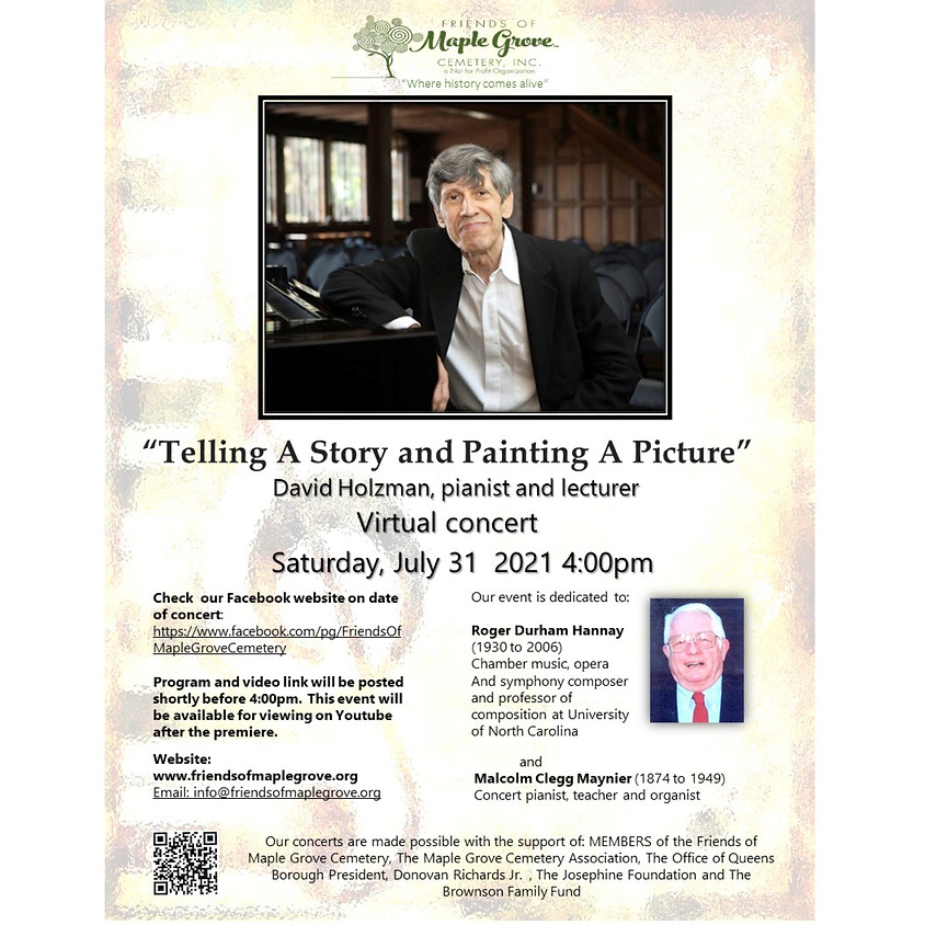 """David Holzman In Concert """"Telling A Story and Painting A Picture"""""""