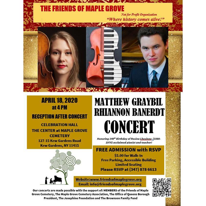 Matthew Graybil & Rhiannon Banerdt Concert