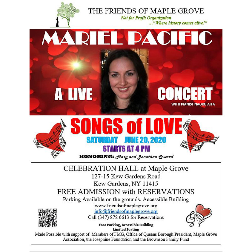 Songs of Love Concert with Mariel Pacific