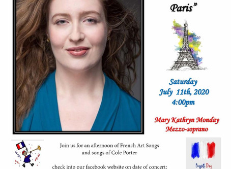 """""""A Love Song to Paris"""" Mary Kathryn Monday Virtual Concert"""