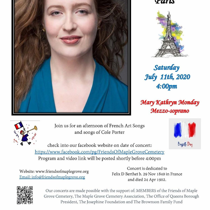 """""""A Love Song To Paris"""" Mary Kathryn Monday Concert"""